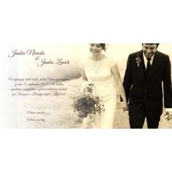 Svadobné oznámenie s fotografiou OF01